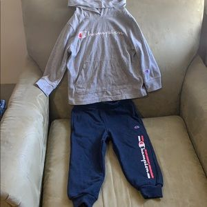 Champion athletic sweater and pants set